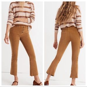 Madewell Cali Demi Bootcut Corduroy Pants Size 31